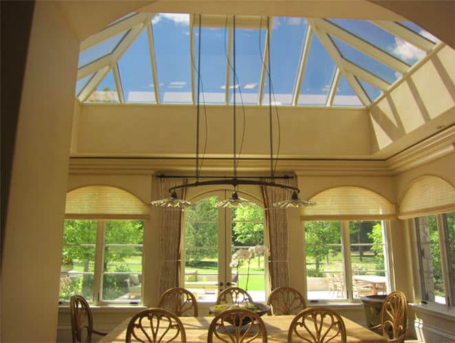 Fusion 10 on ceiling reduces heat and glare allowing for more comfort