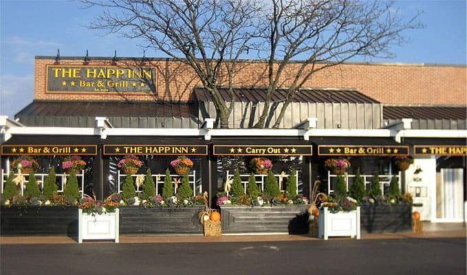 Happ Inn, Northfield, IL - Interior decorative film provides privacy for party room