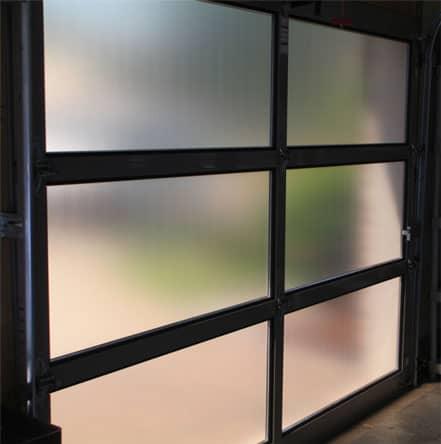 Bronze frost on garage doors