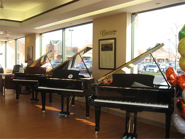 Steinway Pianos of Chicago, Northbrook, IL - Window film prevents fading of pianos